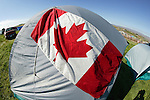 Canadian Flag On Tent