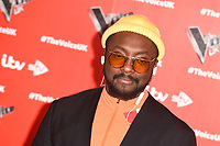 "Will.i.am<br /> at the launch photocall for the 2019 series of ""The Voice"" London<br /> <br /> ©Ash Knotek  D3468  03/01/2019"
