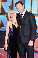 Anna Farris &amp; Chris Pratt at the European premiere for &quot;Guardians of the Galaxy Vol.2&quot; at the Hammersmith Apollo, London, UK. <br /> 24 April  2017<br /> Picture: Steve Vas/Featureflash/SilverHub 0208 004 5359 sales@silverhubmedia.com