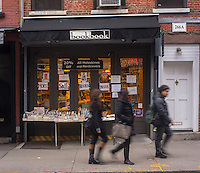 """bookbook"", an independent bookstore is seen on Bleecker Street in the Greenwich Village neighborhood of New York on Thursday, January 17, 2013.  Few independent bookstores remain and the ones that are still in business tend to specialize in various subjects. (© Richard B. Levine)"