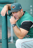 June 5, 2008: Manager Andy Skeels of the Augusta GreenJackets, Class A affiliate of the San Francisco Giants, in a game against the Greenville Drive at Fluor Field at the West End in Greenville, S.C. Photo by:  Tom Priddy/Four Seam Images