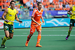 The Hague, Netherlands, June 15: Jeremy Hayward #32 of Australia and Jelle Galema #20 of The Netherlands look on during the field hockey gold match (Men) between Australia and The Netherlands on June 15, 2014 during the World Cup 2014 at Kyocera Stadium in The Hague, Netherlands. Final score 6-1 (2-1)  (Photo by Dirk Markgraf / www.265-images.com) *** Local caption ***