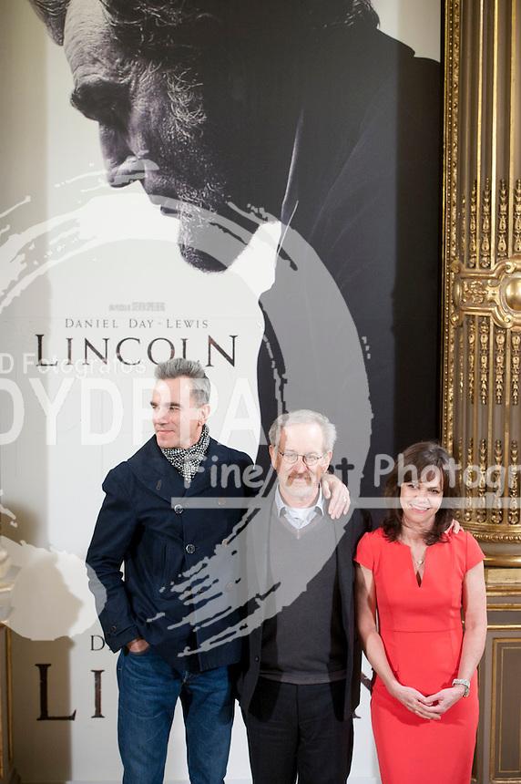 British actor Daniel Day Lewis; American film director Steven Spielberg; American actress Sally Field