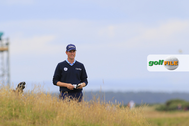 Webb SIMPSON (USA) in the rough during Sunday's Round 3 of the 144th Open Championship, St Andrews Old Course, St Andrews, Fife, Scotland. 19/07/2015.<br /> Picture Eoin Clarke, www.golffile.ie