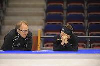 SCHAATSEN: HEERENVEEN: 18-09-2014, IJsstadion Thialf, Topsporttraining, Jac Orie (trainer Team BrandLoyalty), Sven Kramer, ©foto Martin de Jong