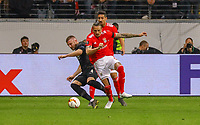 Ante Rebic (Eintracht Frankfurt) gegen Ljubomir Fejsa (Benfica Lissabon) - 18.04.2019: Eintracht Frankfurt vs. Benfica Lissabon, UEFA Europa League, Viertelfinale, Commerzbank ArenaDISCLAIMER: DFL regulations prohibit any use of photographs as image sequences and/or quasi-video.