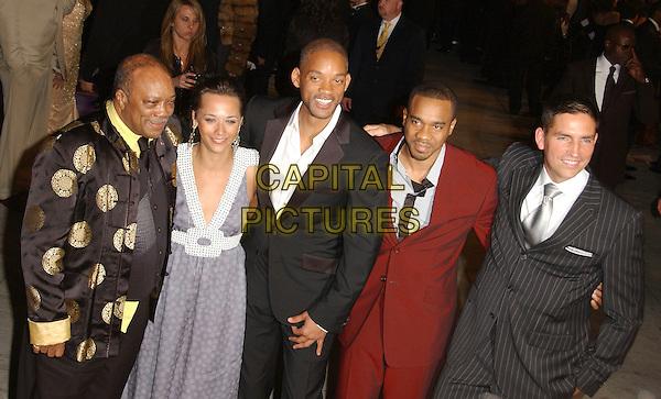 QUINCY JONES, RASHIDA JONES & WILL SMITH.The 2007 Vanity Fair Oscar Party Hosted by Graydon Carter held at Morton's, West Hollywood, California, USA, 25 February 2007..oscars half length .CAP/ADM/GB.©Gary Boas/AdMedia/Capital Pictures.