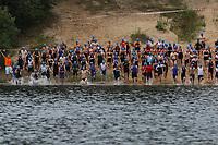 Schimmer der 2. Startergruppe im Wasser - Mörfelden-Walldorf 16.07.2017: 9. MöWathlon