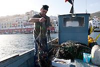 Fishermen Vincenzo Sogliuzzo and Luigi Sogliuzzo, Ponza, Italy