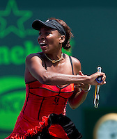 Venus WILLIAMS (USA)against Agnieszka RADWANSKA (POL) in the quarter finals for the women's singles. Venus Williams beat Agnieszka Radwanska 6-3 6-1..International Tennis - 2010 ATP World Tour - Sony Ericsson Open - Crandon Park Tennis Center - Key Biscayne - Miami - Florida - USA - Tue 30th Mar 2010..© Frey - Amn Images, Level 1, Barry House, 20-22 Worple Road, London, SW19 4DH, UK .Tel - +44 20 8947 0100.Fax -+44 20 8947 0117
