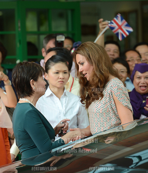 Catherine, Duchess of Cambridge attends the British High Commission Reception in Singapore on the first day of the Royal tour of South East Asia and the South Pacific. .Singapore. .September 12, 2012 .Pictures: CatchlightMedia / Featureflash
