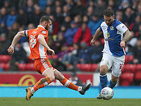 Blackburn Rovers' Adam Armstrong and Blackpool's Jimmy Ryan<br /> <br /> Photographer Rachel Holborn/CameraSport<br /> <br /> The EFL Sky Bet League One - Blackburn Rovers v Blackpool - Saturday 10th March 2018 - Ewood Park - Blackburn<br /> <br /> World Copyright &copy; 2018 CameraSport. All rights reserved. 43 Linden Ave. Countesthorpe. Leicester. England. LE8 5PG - Tel: +44 (0) 116 277 4147 - admin@camerasport.com - www.camerasport.com