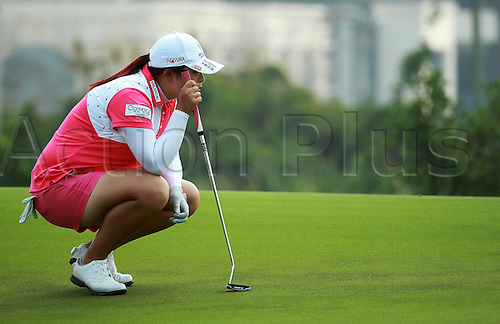 06.03.2014. Haikou, China; Feng Shanshan of China in action during round one of the World Ladies Championship at Mission Hills Blackstone Course.