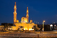 United Arab Emirates, Dubai: The Jumeirah Mosque at dusk