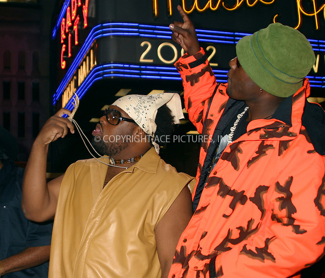 The Nappy Roots arrives at Radio City Music Hall for Music Video Awards 2002. New York, August 29, 2002. Please byline: NY Photo Press.   ..*PAY-PER-USE*      ....NY Photo Press:  ..phone (646) 267-6913;   ..e-mail: info@nyphotopress.com