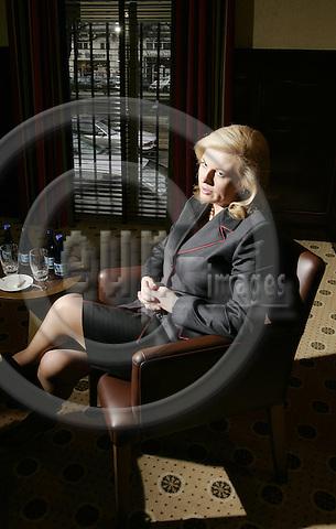 BRUSSELS - BELGIUM - 15 MARCH 2005--Kolinda Grabar KITAROVIC, the Kroatian Minister of Foreign Affairs during an interview. -- PHOTO: JUHA ROININEN / EUP-IMAGES