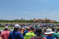 A huge gallery gathers around the first tee awaiting Phil Mickelson (USA), Tiger Woods (USA), and Rickie Fowler (USA)  during round 1 of The Players Championship, TPC Sawgrass, at Ponte Vedra, Florida, USA. 5/10/2018.<br /> Picture: Golffile | Ken Murray<br /> <br /> <br /> All photo usage must carry mandatory copyright credit (&copy; Golffile | Ken Murray)
