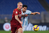 Rick Karsdorp Roma - Gabriel Cleur Entella.<br /> Roma 14-01-2019 Stadio Olimpico<br /> Football Italy Cup 2018/2019, Round of 16 <br /> AS Roma - Virtus Entella<br /> Foto Image Sport  / Insidefoto