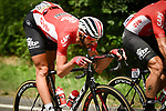 Jelle Vanendert (BEL) Lotto-Soudal in action during Stage 7 of the 2018 Tour de France running 231km from Fougeres to Chartres, France. 13th July 2018. <br /> Picture: ASO/Pauline Ballet | Cyclefile<br /> All photos usage must carry mandatory copyright credit (&copy; Cyclefile | ASO/Pauline Ballet)