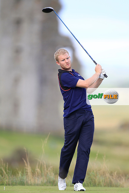 Barry Daly (Edmonstown) on the 13th tee during the South of Ireland Amateur Open Championship Second Round at Lahinch Golf Club  28th July 2013 <br /> Picture:  Thos Caffrey / www.golffile.ie