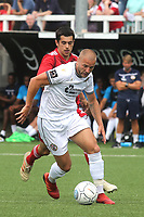 Bromley's Luke Coulson in action during Bromley vs Fulham, Friendly Match Football at the H2T Group Stadium on 6th July 2019