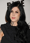 LOS ANGELES, CA - SEPTEMBER 30: Kat Von D  arrives at the Official Launch Party For RAGE Hosted By Charlize Theron at Chinatown's Historical Central Plaza on September 30, 2011 in Los Angeles, California.