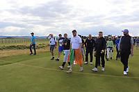 Support for Caolan Rafferty (GB&I) on the 15th during Day 2 Singles at the Walker Cup, Royal Liverpool Golf CLub, Hoylake, Cheshire, England. 08/09/2019.<br /> Picture Thos Caffrey / Golffile.ie<br /> <br /> All photo usage must carry mandatory copyright credit (© Golffile | Thos Caffrey)