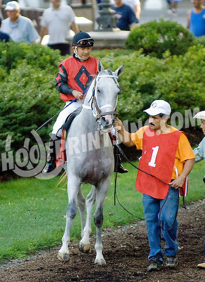 T M Fred Texas before The Bob Magness Memorial Derby (gr2) at Delaware Park on 9/10/11.