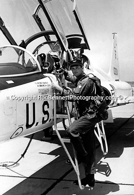Ron Bennett boards USAF T-38 Talon twin jet high altitude supersonic jet trainer,Photojournalist Ron Bennett, RTB, Ron Bennett Photojournalist, Ron Bennett Photographer, Ron Bennett Photography, Ronald T. Bennett Photography, Ronald T. Bennett,