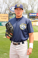 April 11 2010: Hilton Richardson of the Burlington Bees. The Bees are the Low A affiliate of the Kansas City Royals. Photo by: Chris Proctor/Four Seam Images