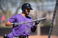 Colorado Rockies right fielder Willie Abreu (13) during an Extended Spring Training game against the San Diego Padres at Peoria Sports Complex on March 30, 2018 in Peoria, Arizona. (Zachary Lucy/Four Seam Images)