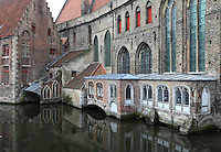 BRUGES, BELGIUM - FEBRUARY 06 : A detail of the chapel of St. John's Hospital (Sint-Janshospitaal) on February 06, 2009 in Bruges, West Flanders, Belgium. The St John's Hospital is one of the oldest health care institutes in Europe dating 12th century. The chapel houses the Memling Museum called Memling in Sint-Jan - Hospital Museum. Hans Memling worked in Bruges from 1465 until his death in 1494. (Photo by Manuel Cohen)