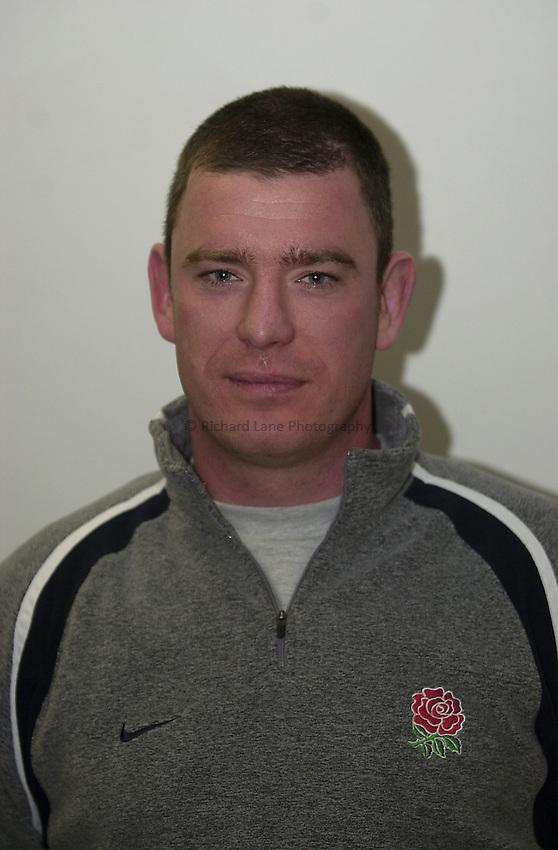 England Under 21's training.  Warwick University..Photo. Richard Lane..14-2-2002.Dean Ryan