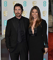 LONDON, UK - FEBRUARY 10:  Christian Bale, Sibi Blazic at the 72nd British Academy Film Awards held at Albert Hall on February 10, 2019 in London, United Kingdom. <br /> CAP/MPIIS<br /> ©MPIIS/Capital Pictures