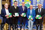 The launch of the Kerry GAA Strategic plan at the Kerry GAA awards night in the Ballygarry House Hotel on Saturday night. L to r; Joe Crowley, Tim Murphy (Kerry GAA Chairman), John Hogan (GAA President), Willie O'Connor and Jerry O'Sullivan (Munster GAA Chairman).