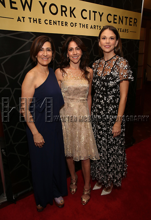 """Jeanine Tesori, Stacy Bash- Polley and Sutton Foster attends the New York City Center Celebrates 75 Years with a Gala Performance of """"A Chorus Line"""" at the City Center on November 14, 2018 in New York City."""