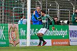 26.10.2019, Stadion Lohmühle, Luebeck, GER, Regionalliga Nord VFB Lübeck/Luebeck vs Hannover 96 II <br /> <br /> DFB REGULATIONS PROHIBIT ANY USE OF PHOTOGRAPHS AS IMAGE SEQUENCES AND/OR QUASI-VIDEO.<br /> <br /> im Bild / picture shows<br /> Torjubel zum 3:0 Torschuetze Ahmet Arslan  (VfB Luebeck) klatscht den Ballujungen ab.<br /> <br /> Foto © nordphoto / Tauchnitz