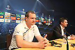 UEFA Champions League, Barcelona, Camp Nou, Press conference before match FC Barcelona v FC Viktoria Plzen. Picture show Pavel Vrba