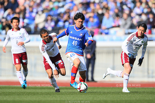 Masashi Wada (F Marinos), <br /> FEBRUARY 21, 2015 - Football / Soccer :<br /> 2015 J.League Pre-season match between <br /> Yokohama F Marinos 0-1 Matsumoto Yamaga FC <br /> at Nissan Stadium in Kanagawa, Japan. <br /> (Photo by Yohei Osada/AFLO SPORT) [1156]