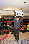 """Rumlble in Listowel : Brendan O'Sullivan introduces Round 1 , Fight No 8 at the """" Rumble in Listowel """"charity fund raising event in the Listowel Arms Hotel on Friday night last."""