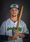 11 June 2019: Vermont Lake Monsters infielder Nick Ward poses for a portrait on Photo Day at Centennial Field in Burlington, Vermont. The Lake Monsters are the Single-A minor league affiliate of the Oakland Athletics and play a short season in the NY Penn League Stedler Division. Mandatory Credit: Ed Wolfstein Photo *** RAW (NEF) Image File Available ***