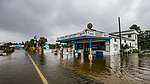 SAINT MARKS, FL - OCTOBER 10: Bo Lynn's Market starts taking water in the town of Saint Marks as Hurricane Michael pushes the storm surge up the Wakulla and Saint Marks Rivers which come together here on October 10, 2018 in Saint Marks, Florida. (Photo by Mark Wallheiser/Getty Images)