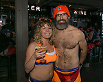 Race Director Ali Ball and husband Michael during the Cupid's Undie Run to benefit Neurofibromatosis in Reno, Nev., Saturday, Feb. 8, 2020.