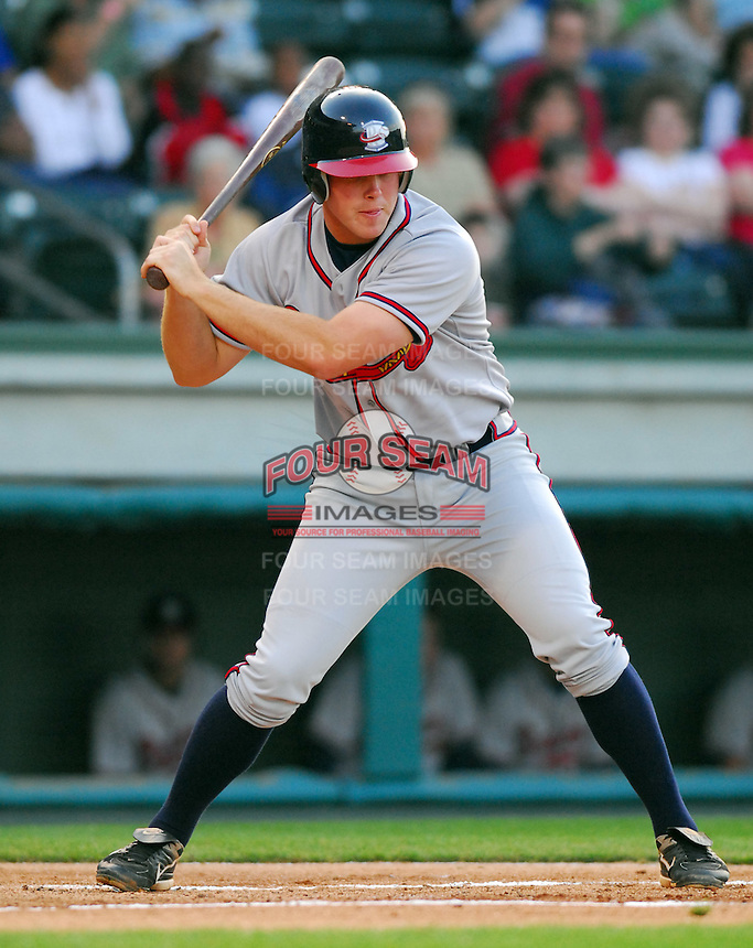 13 April 2007: Josh Morris of the Rome Braves, Class A affiliate of the Atlanta Braves, during a game against the Greenville Drive at West End Field, Greenville, S.C. Photo by:  Tom Priddy/Four Seam Images