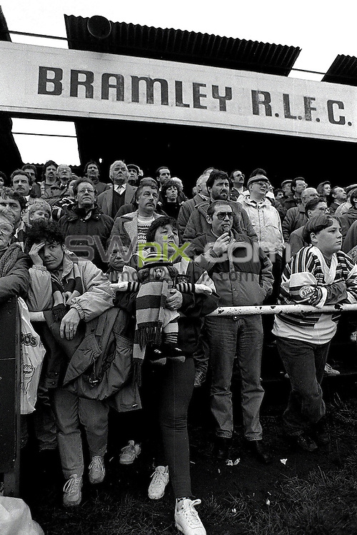 Pix:Michael Steele/SWpix...Rugby League. Bramley Rugby League club...COPYRIGHT PICTURE>>SIMON WILKINSON..Bramley supporters.