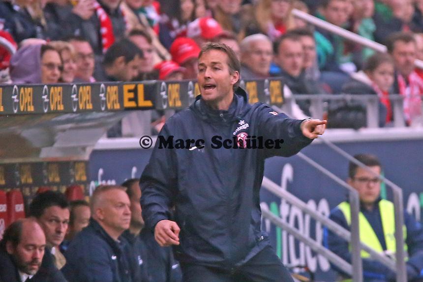 Trainer Kaspar Hjulmand (Mainz) - 1. FSV Mainz 05 vs. SV Werder Bremenl, Coface Arena