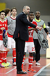 SL Benfica's coach Joel Rocha during UEFA Futsal Cup 2015/2016 Semifinal match. April 22,2016. (ALTERPHOTOS/Acero)