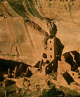 Mesa Verde National Park, CO<br /> Walls of Anasazi dwellings in Square House Tower