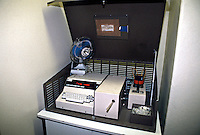 This is a Lion Intoximeter 3000. It is kept at police stations and used when it is required to provide a further breath test that is more accurate than the reading given by the handheld units that are used on the roadside. This image may only be used to portray the subject in a positive manner..©shoutpictures.com..john@shoutpictures.com.