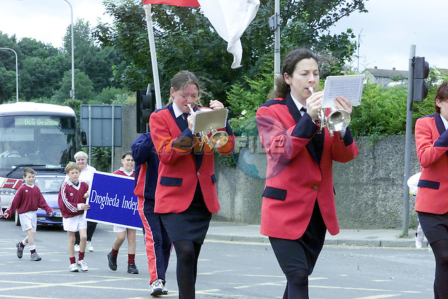 the Lourdes Brass Band lead the teams from all over the county ..Picture Fran Caffrey Newsfile.